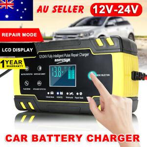 8A 12V/24V Car Battery Charger Trickle Smart Repair Motorcycle Caravan Boat