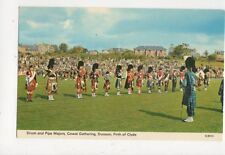 Drum & Pipe Majors Cowal Gathering Dunoon Old Postcard 438a