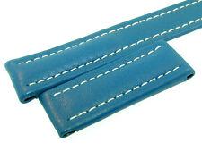 BREITLING XS BAND 18MM BLUE AZUL CALF STRAP B18-29