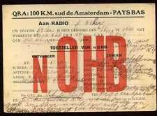 CARD  CARTE  QSL  radio amateur    PAYS BAS   1928  ( 127 )