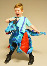Kids Size Ride On Blue Dragon Costume
