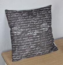 Cojín 40x40cm tipo de Letra Impresión Negro Blanco Relleno Decorativo Motivo