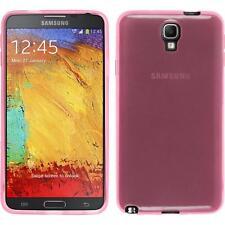 Silikon Hülle für Samsung Galaxy Note 3 Neo rosa transparent + 2 Schutzfolien