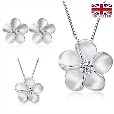'Forget me not' S925 Gorgeous sterling silver jewellery set flowers UK SELLER