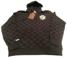 Toronto Raptors Mitchell Ness Black Gold All Over Retro Logo Sweatshirt Hoodie