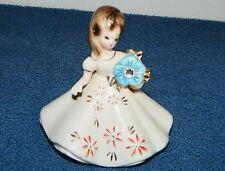 Josef Originals Porcelain December Birthstone Birthday Zircon Figurine Japan