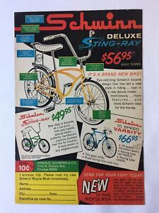 1964 Schwinn bicycle ad page ~ Deluxe STING RAY