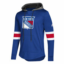 New York Rangers adidas Mens Blue Line Premium Hooded Sweatshirt M