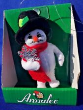 """FROSTY SNOWMAN TOP HAT SILVER SNOWFLAKE Ornament ANNALEE Dolls 3"""" ▬ 2013 ▬ ❤️"""