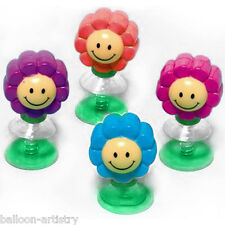 12 Children's Smiley Face Party Favours Loot Gifts Pop Up Flower Toys