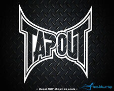"""TAPOUT UFC MMA Car Decal / Laptop Sticker - WHITE 6"""""""