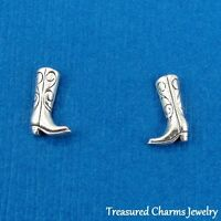 .925 Sterling Silver COWBOY BOOTS Country Western Post Stud EARRINGS