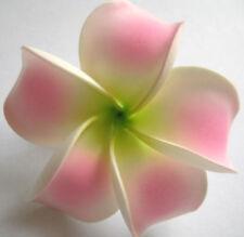 Hawaiian Hawaii Bridal Wedding Party Favor QTY ( 2 ) Flower Plumeria Hair Clips