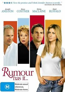 Rumour Has It (DVD, 2006) Region 4 - Jennifer Aniston, Kevin Costner