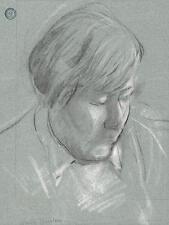 WALTER SICKERT Pupil FRANK GRIFFITH Pastel Drawing FEMALE PORTRAIT c1950