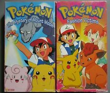 Two 1998 Pokemon VHS Movies Tapes Fashion Victims The Mystery of Mount Moon