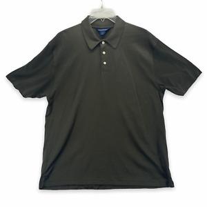 Brooks Brothers Golf Men's Short Sleeve Polo Shirt Green Mercerized Cotton Large