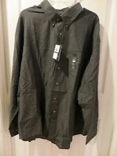 2XL 18-18 1/2 ARROW Men's CHARCOAL Casual Button Front HERITAGE TWILL Shirt NWT