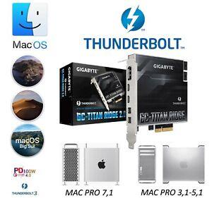 Gigabyte Titan Ridge 2.0 Thunderbolt 3 Flashed For Mac Pro 4,1 5,1 USB C 3.2