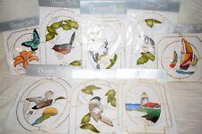 Lot of 8 Designer Shells Handcrafted Wall & Window Decor - Birds - Boats+ -  NEW