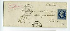 1857 FRANCE Envelope from PENNE-c.20 NAPOLEON III*àTimbre INSUFFICIENTE RED-h630