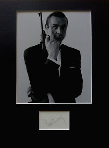 SEAN CONNERY signed autograph PHOTO DISPLAY JAMES BOND 007