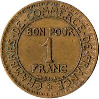 COIN / FRANCE / 1 FRANC 1925 CHAMBERS DE COMMEMRCE  #WT3215