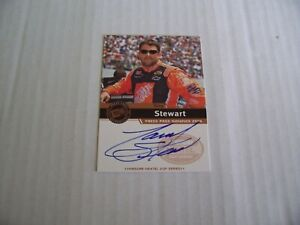TONY STEWART 2006 PRESS PASS RACING SIGNINGS AUTOGRAPH INSERT CARD, ON CARD!
