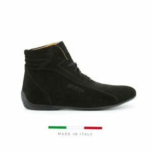 Sparco Monza-GP Black Shoes Sneakers in Suede