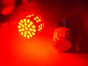 2 Ford AMC #89 Red 12V Interior Courtesy Lamp LED Light Bulbs Park Lamp 1156 NOS