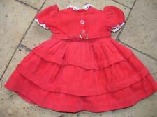 RAYNAL : Robe originale en velours rouge foncé pour une poupée de 50cm