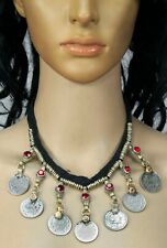 Vintage Gypsy Coins Pendant Necklace Handmade Boho Tribal Banjara Kuchi Afghan