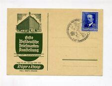 1941 3.Reich Sonderkarte 1. Westdeutsche Briefmarkenausstellung Minr 761 mit SST