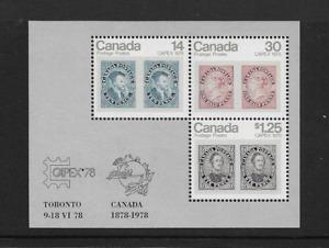 1978 CANADA - CAPEX PHILATELIC EXHIBITION. MINIATURE SHEET - MNH.