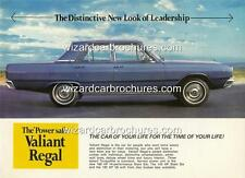 1968 CHRYSLER VALIANT VE REGAL A3 POSTER AD SALES BROCHURE ADVERTISEMENT ADVERT
