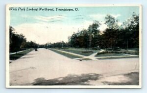 Postcard OH 1916 Youngstown Wick Park Looking Northwest L1