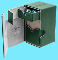ULTIMATE GUARD FLIP n TRAY GREEN 100+ XENOSKIN DECK CASE Standard Size Card Box