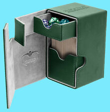 ULTIMATE GUARD FLIP n TRAY GREEN 100+ XENOSKIN DECK CASE Standard Size Card Box