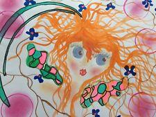 Original Fairy Big Eye Painting Original Signed