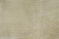 Albino CROC Leather cowhide remnant Appx 7 sqft E74J10-6