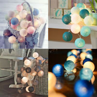 3M/20 LED Colorful Cotton Ball LED String Christmas Wedding Party Fairy Lights