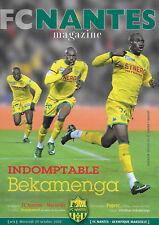 FC NANTES Magazine N°5 - Football - 29 Octobre 2008 - poster Bekamenga, OM...