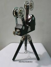 """Vintage Chrome  Decorative Projector With black Tripod 18"""" Home Decor GIFT"""