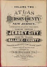 1909 G.M. HOPKINS, HUDSON COUNTY, NEW JERSEY, TITLE PAGE, COPY PLAT ATLAS MAP