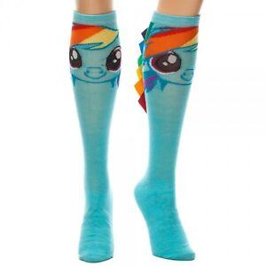 My Little Pony Rainbow Dash Knee Socks High with Hair