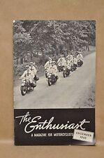 Vintage Harley Davidson Enthusiast Magazine December 1940 Motorcycle Dirt Track