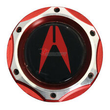 2 Tone Red Chrome Engine Oil Filler Cap Tank Cover With Emblem