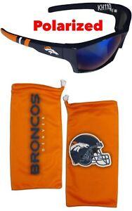 Denver Broncos NFL Polarized Wrap Sunglasses w/Microfiber bag