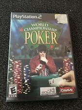 WORLD CHAMPIONSHIP POKER - PS2 - COMPLETE W/MANUAL - FREE S/H (A)