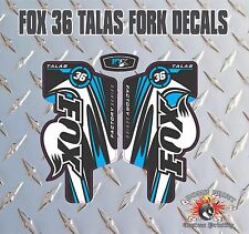 Fox 36  FORK Talas Stickers Decals Graphics Mountain Bike Down Hill MTB blue